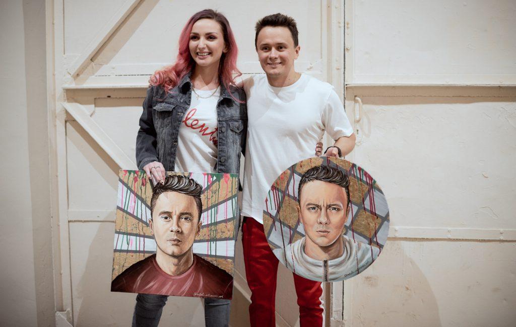 Вручение портрета Илье Соболеву