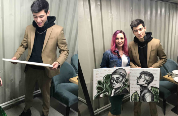 Вручение портрета Алану Хадзарагову (MATRANG). Вторая встреча